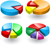 3d round diagrams Royalty Free Stock Photo