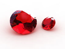 3D Round garnet stones Royalty Free Stock Photo