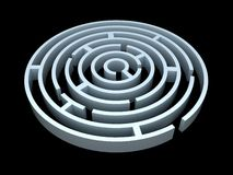 3D round maze Royalty Free Stock Photography