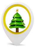 3d round pointer with pine tree Royalty Free Stock Image