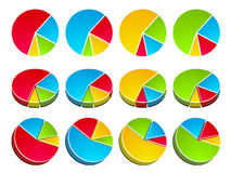 3D rounded graphs. Illustration for the web Royalty Free Stock Photo