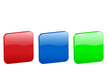 3d rounded squares icon Stock Images