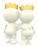 3D royal couple Royalty Free Stock Photo