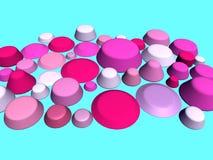 3D- Roze en blauw Stock Foto