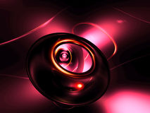 3D Roze Gouden Samenvatting geeft Zwarte Roze Achtergrond terug Royalty-vrije Stock Afbeeldingen