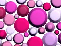 3D - Roze snoepjes op wit Royalty-vrije Stock Afbeeldingen