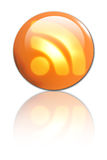 3d RSS button. On a solid white background Royalty Free Stock Photography