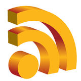 3d rss icon Royalty Free Stock Image