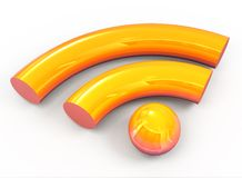 3d rss orange icon Stock Images