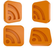 3d RSS Symbol Stock Photo
