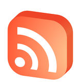 3D RSS Symbol Stockbild