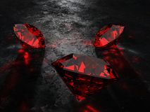 3d rubies. Some 3d rendered big rubies stock illustration
