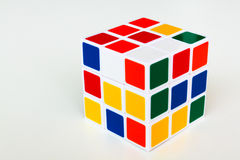 3D rubik cubes. Cubes. Abstract background. 3d Royalty Free Stock Photography
