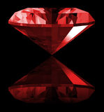 3d Ruby Gem Isolated Royalty Free Stock Photos