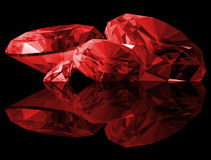 3d Ruby Gems Isolated Royalty Free Stock Photography