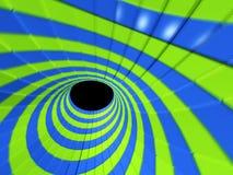 3D ruimte - abstracte tunnel Stock Foto