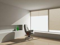 3d ruimte met een leunstoel Stock Foto's