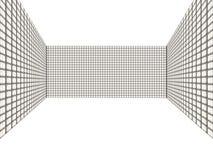 3D ruimte met muurtegels Royalty-vrije Stock Foto's