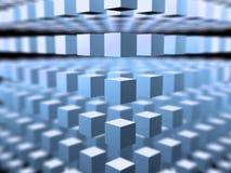 3D ruimte van de kubus - abstracte achtergrond Stock Afbeeldingen