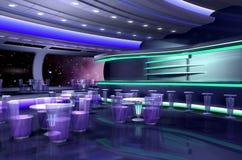 3D ruimteschip stock illustratie