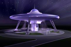 3D ruimteschip royalty-vrije illustratie