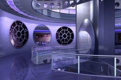 3D ruimteschip of ufo vector illustratie
