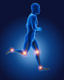 3D running medical man Royalty Free Stock Photo