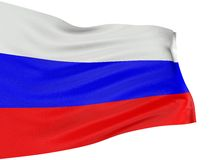 3D Russian flag Stock Image