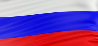 3D Russian flag Stock Photography