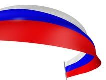 3D Russische vlag Stock Foto