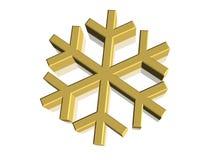 3D símbolo - copo de nieve Foto de archivo libre de regalías