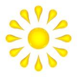 3d słońce Obraz Royalty Free
