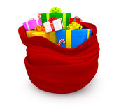3D Sack of gifts Stock Image