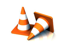 3D Safety Cones Stock Images