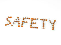 3D Safety cones forming the word Safety. Stock Photography