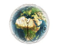 3D safety earth Africa Stock Image