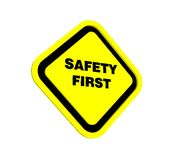 3d safety first Stock Images