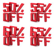 3D sale 50-65 percent Stock Photography