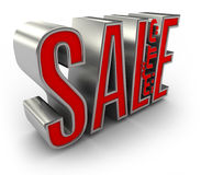 3D Sale with Arabic Text. Sale 3D text with Arabic Text in between Stock Images