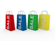 3d sale bag colorful Stock Photography