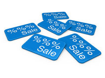 3d sale card blue Royalty Free Stock Image