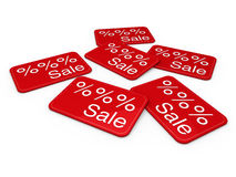 3d sale card red Stock Images