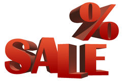 3D Sale illustration Stock Photography