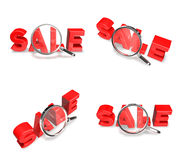 3d sale letter art Royalty Free Stock Image