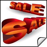 3D Sale Signs Royalty Free Stock Image