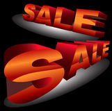 3D Sale Signs. A set of 3D sale signs with black background Royalty Free Stock Images