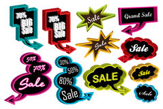 3D sale speech bubbles Stock Photography