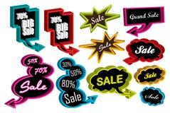 3D sale speech bubbles. 3D sale bubbles for your text Stock Photography