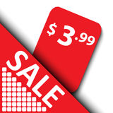 3d sale tag design Royalty Free Stock Photography