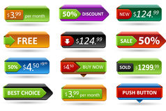3d sale tags. Royalty Free Stock Images